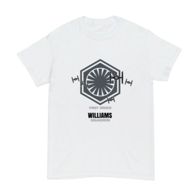 First Order Williams Squadron Customisable T-Shirt For Kids, Star Wars