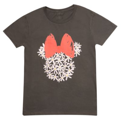 Minnie Mouse Floral Customisable T-Shirt For Kids