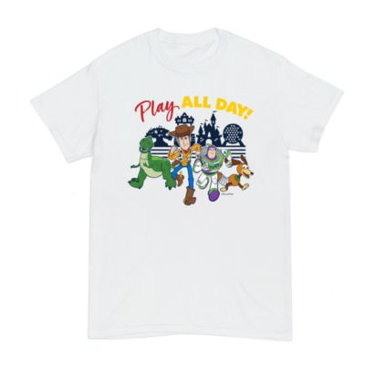 Toy Story Play All Day Customisable T-Shirt For Adults