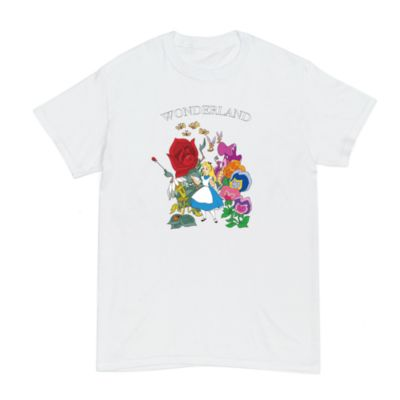 Alice in Wonderland Flowers Customisable T-Shirt For Kids