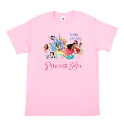 Disney Princess Birthday Customisable T-Shirt For Kids