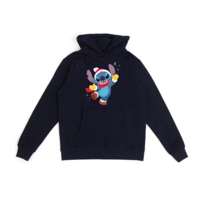 Stitch Festive Customisable Hooded Sweatshirt For Adults