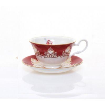 English Ladies Co. Ariel Fine Bone China Teacup and Saucer