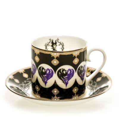 English Ladies Co. Tasse et soucoupe Maléfique en porcelaine à la cendre d'os
