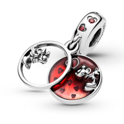 Disney X Pandora Mickey Mouse & Minnie Mouse Love and Kisses Dangle Charm